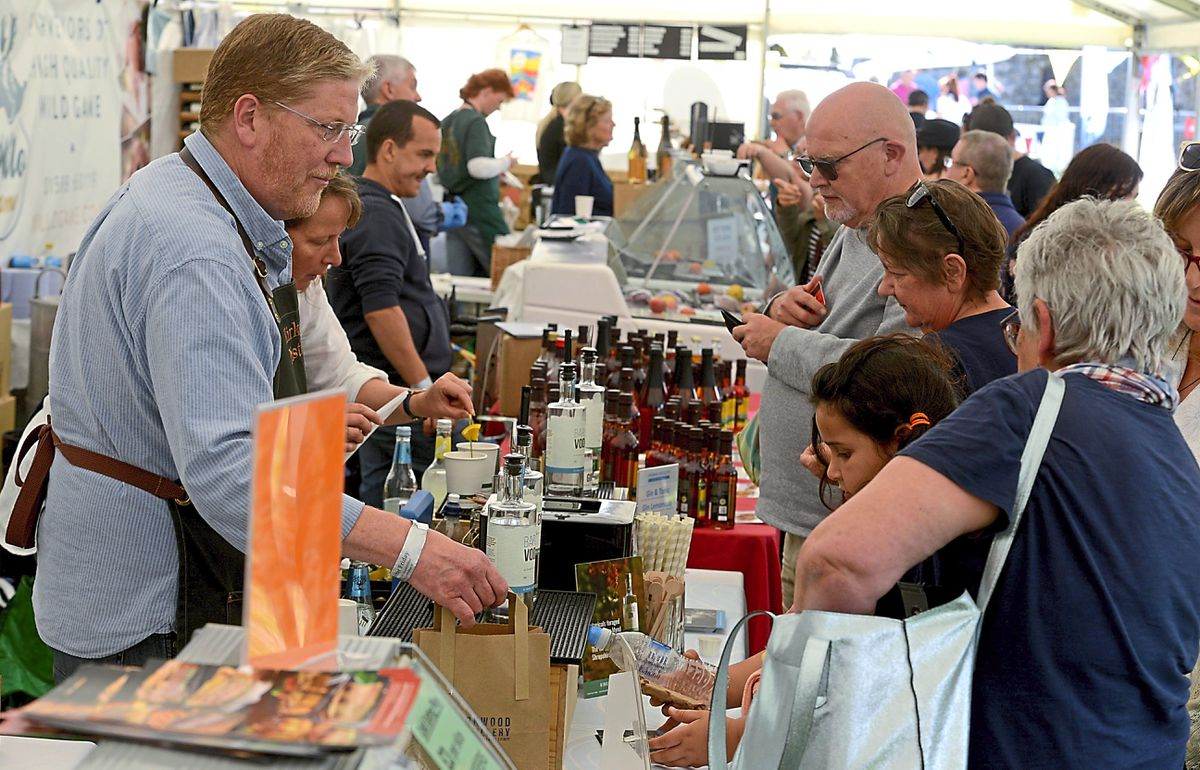 Stall holders were doing a roaring trade at the event