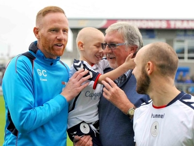 Let's Back Zac: Magical day for brave youngster and family as he is AFC Telford's match mascot