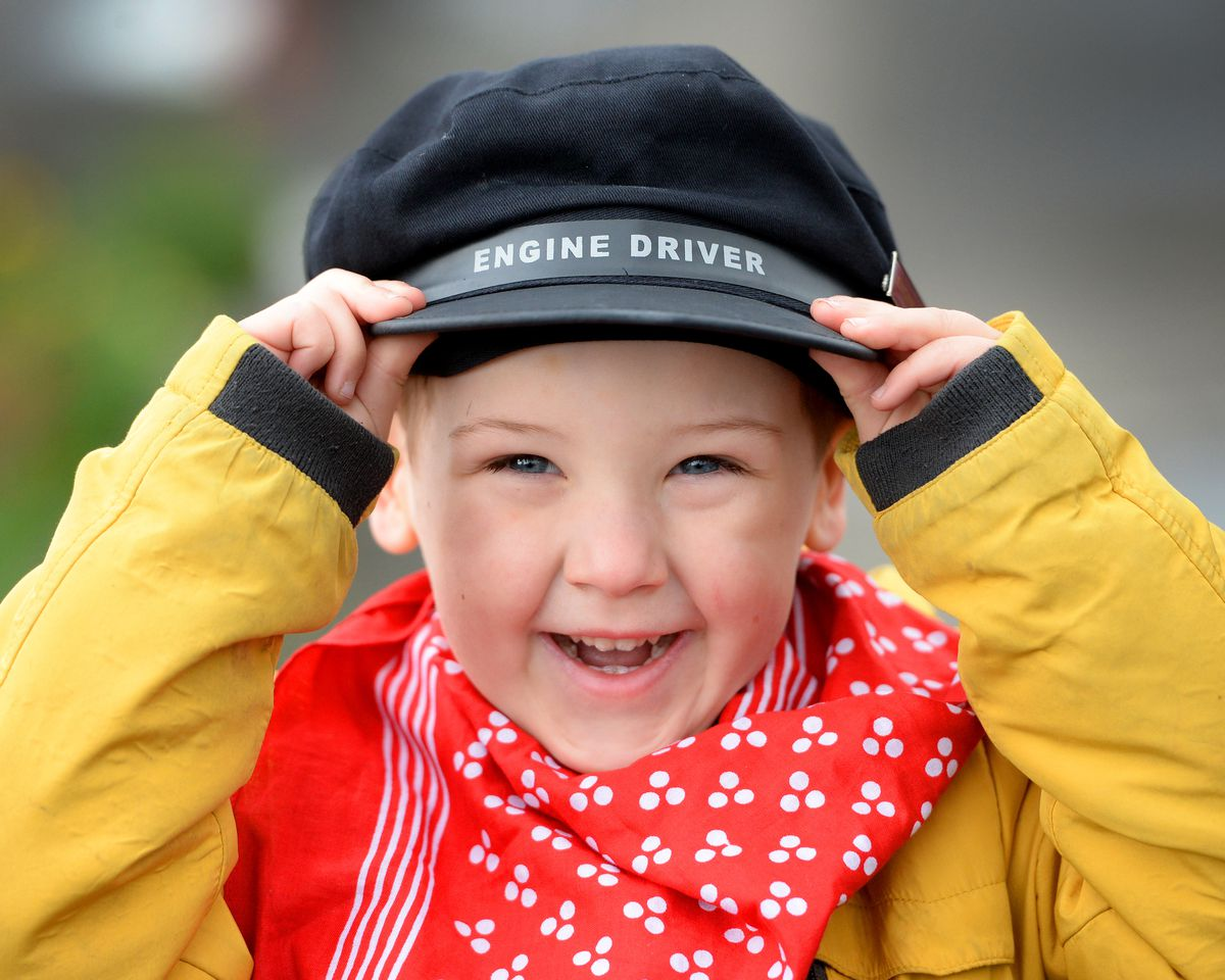 Steam Gala at Severn Valley Railway's Kidderminster Station..Jackson Brown, aged 4, from Kidderminster who was dressed for the occasion