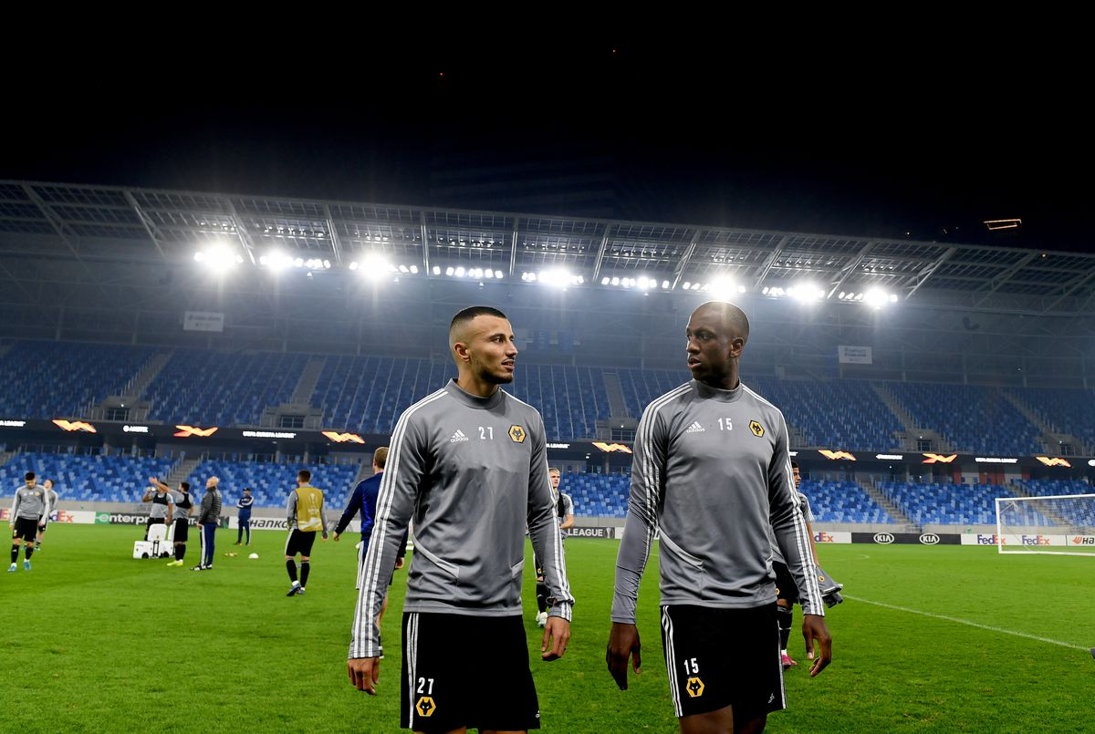 Romain Saiss of Wolverhampton Wanderers and Willy Boly (AMA)
