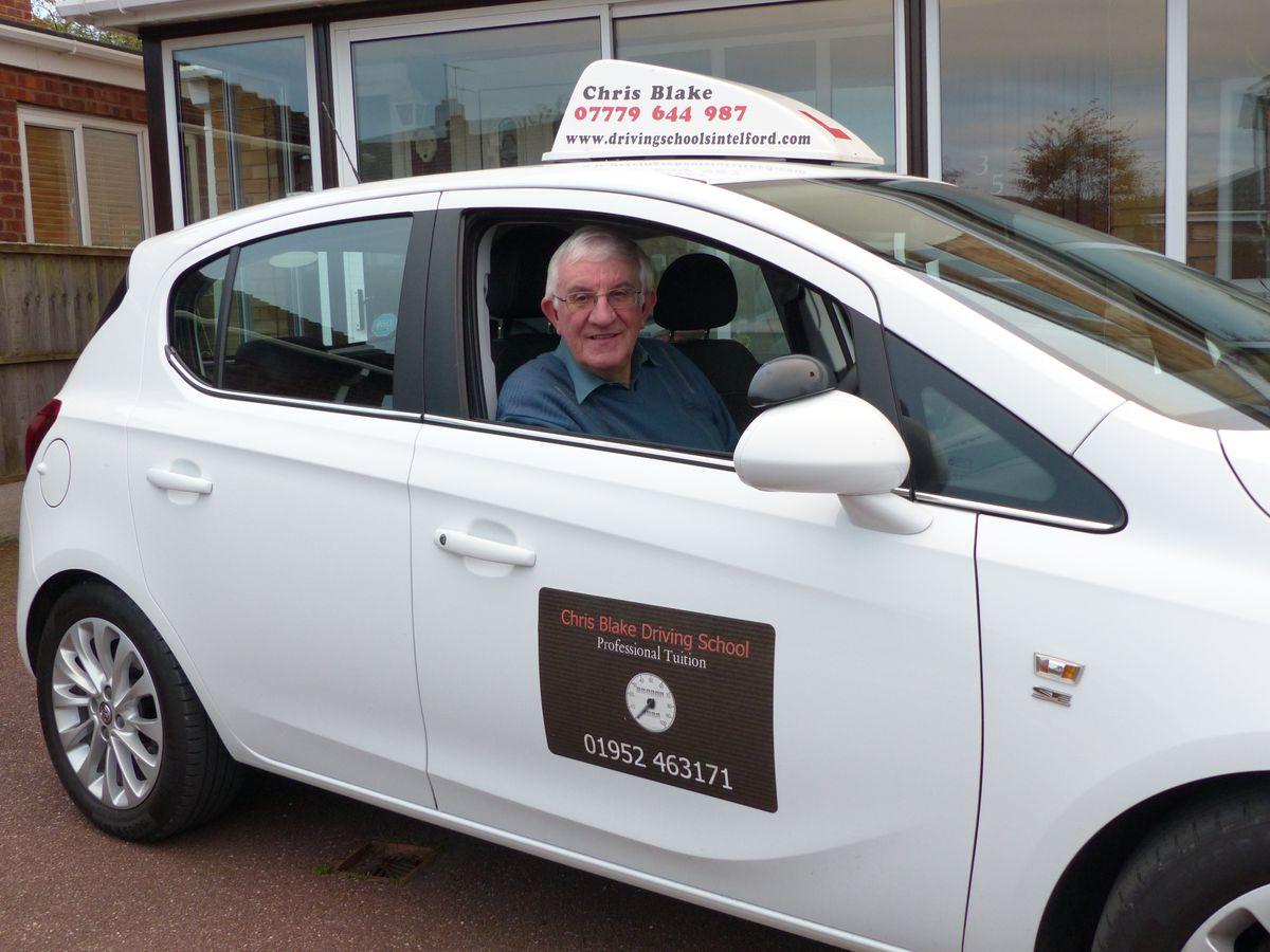 Driving instructor Chris Blake