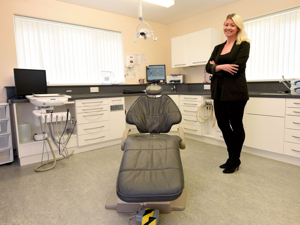 Natalie Walker, owner and one of the dentists at Dawley Dental Practice, is preparing to reopen today