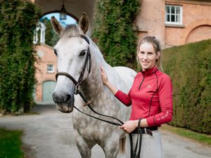 Zoe Geddes from Lydbury North is taking part in The Mongol Derby - the longest and toughest horse race in the world. Pictured here with a horse she looks after called Silver