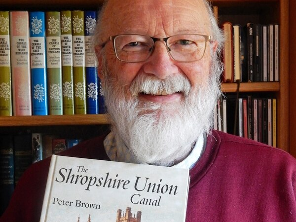 Why canalside home was a must for Market Drayton author Peter