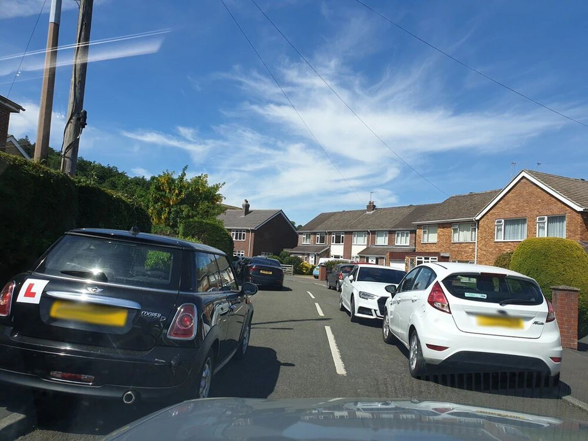 Cars parked in Church Stretton blocked pavements as visitors flocked to the town in May