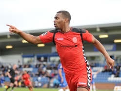 AFC Telford striker Andre Brown is told he has to be clinical