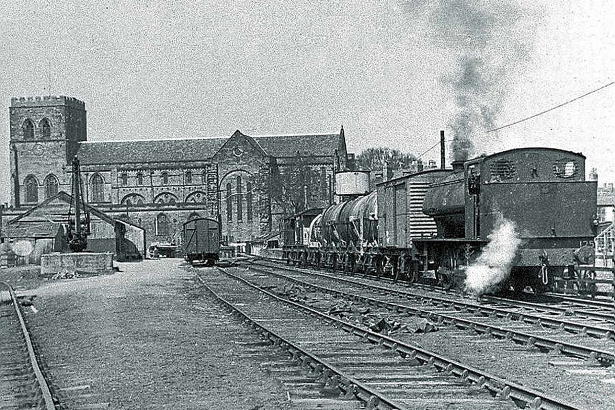 The Abbey station, Shrewsbury, during the last week of operation by the War Department in March 1960. Picture: Russell Mulford