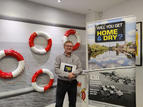 Water safety education manager Andy Lane