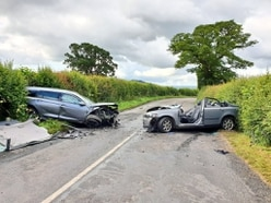 Two taken to hospital after crashes near Shropshire village