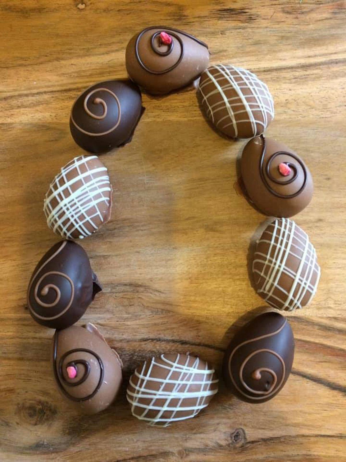 Richard's Easter egg-shaped chocolate truffles