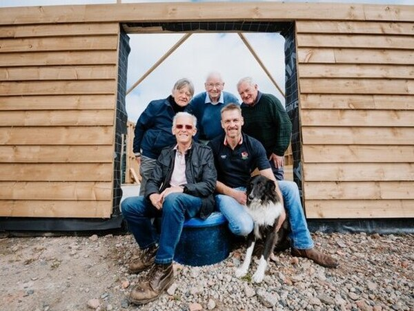 Shropshire men's shed charity receive £4,000 towards final installations on community building
