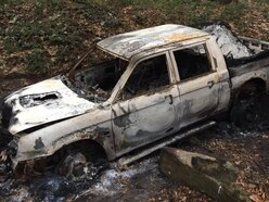 Stolen car found burnt out in Shropshire woods