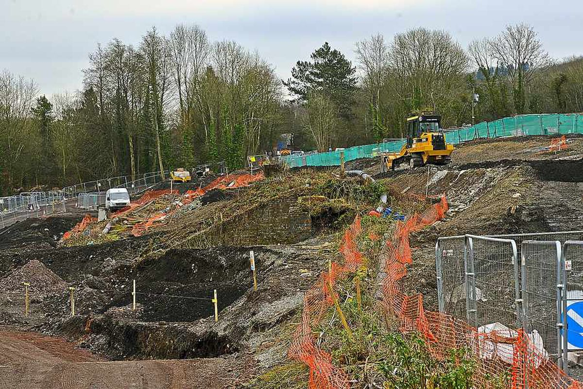 Work takes place off Calcutts Road, Jackfield