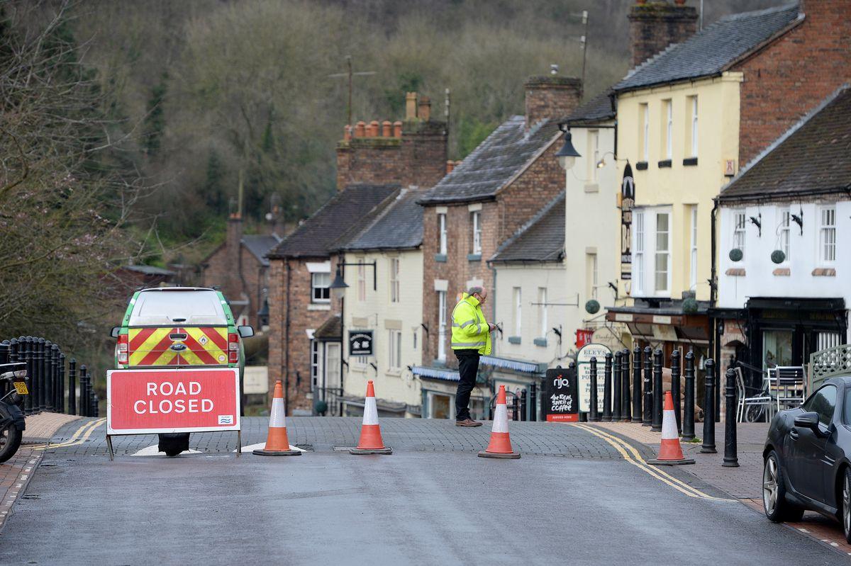 Flooding in Ironbridge on Wednesday