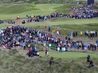 Thousands of golf fans relish third day of Open's return to N Ireland