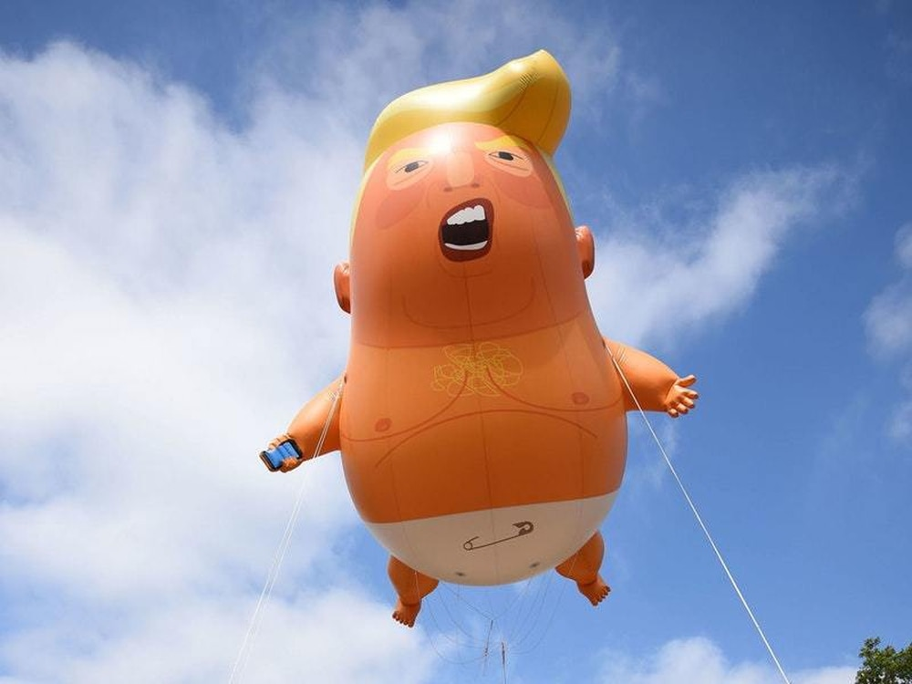 The Trump Baby blimp will fly over London once again