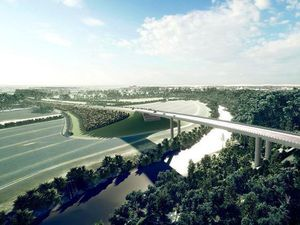 An artist's impression of the North West Relief Road