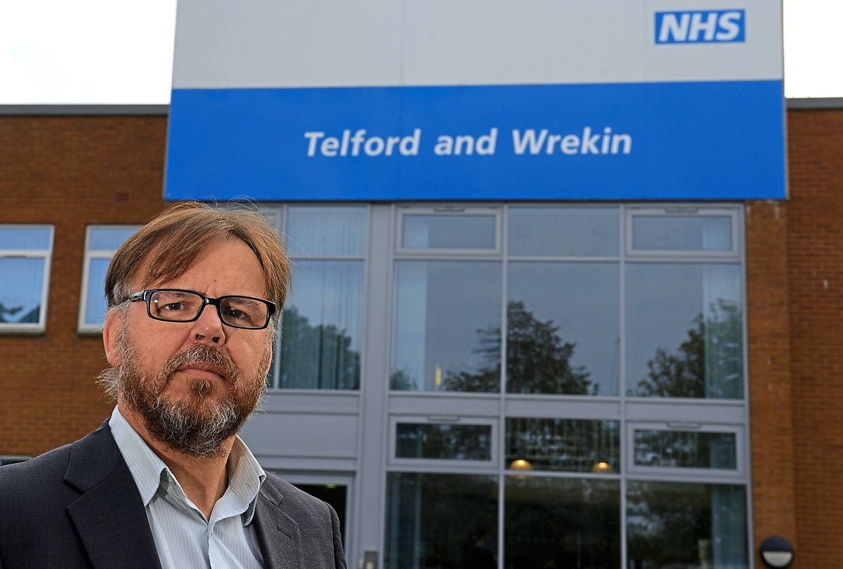 David Evans from the NHS Telford and Wrekin Clinical Commissioning Group in Halesfield, Telford