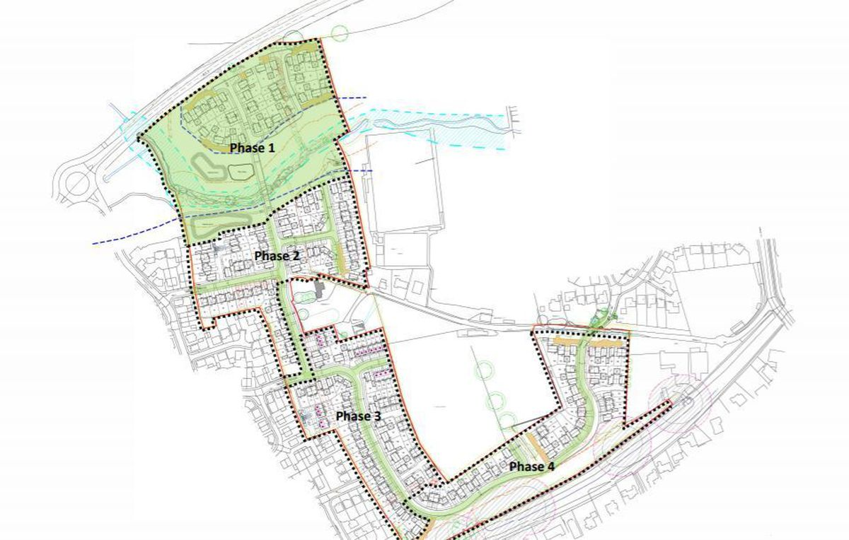 Plans show how the development would be built in four phases