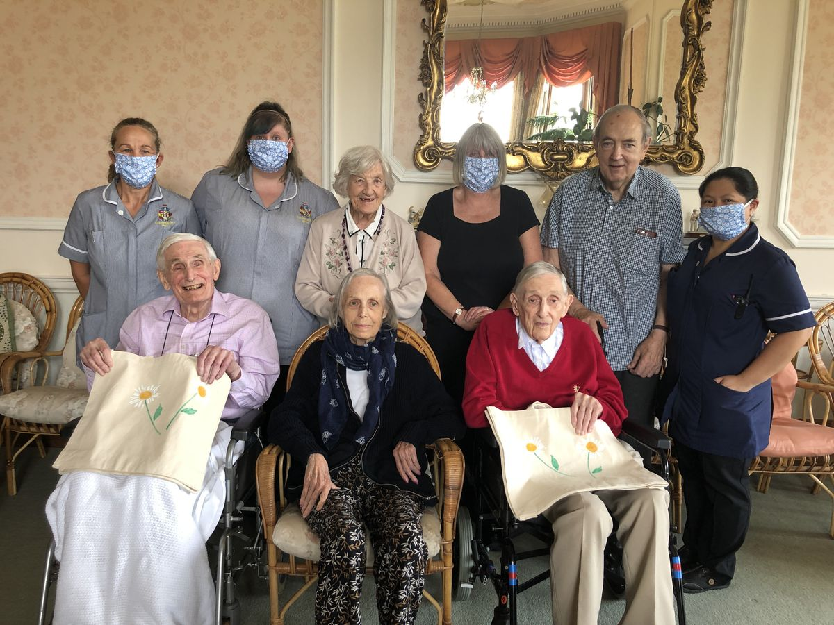 Staff and residents at Cheswardine Hall have enjoyed getting crafty