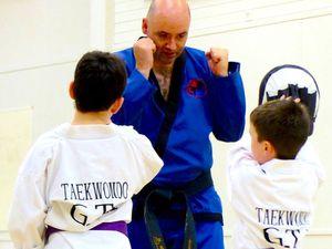 Seamus McGinley, chief instructor, coaching the juniors