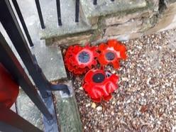 Women vandalise Oswestry poppy display