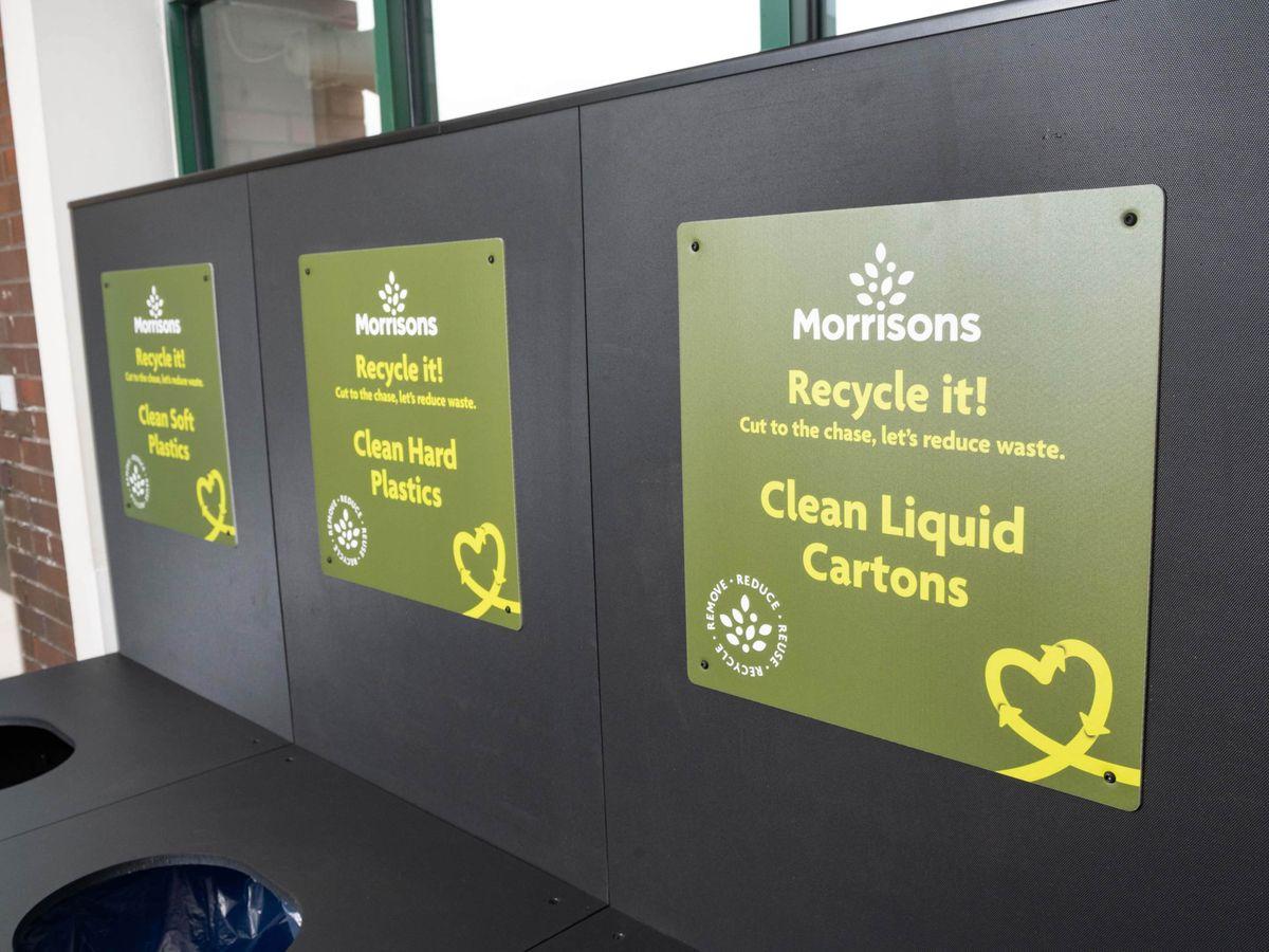 Morrisons recycling bins