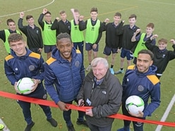 Shrewsbury Town players launch Ellesmere school's new sports pitch