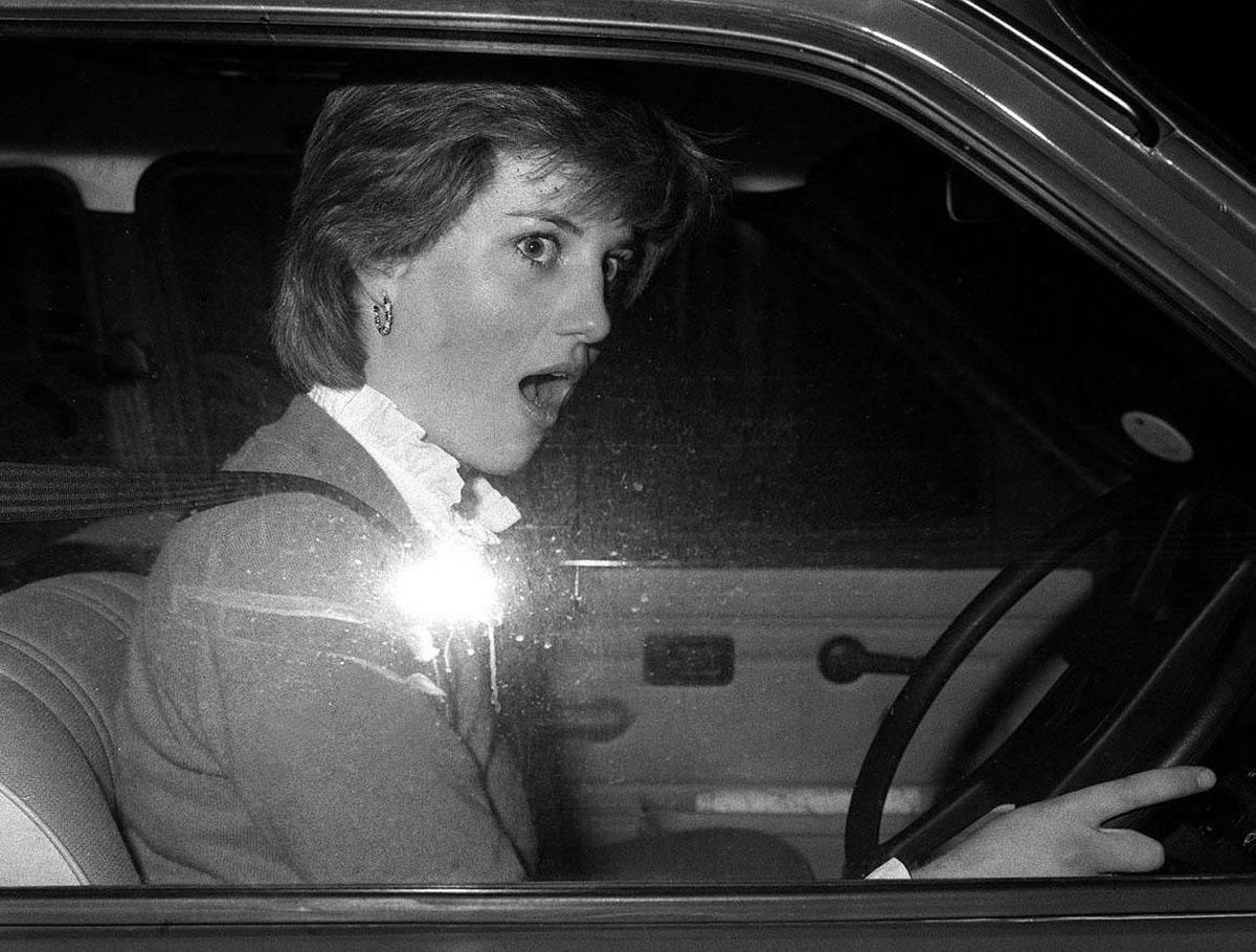 The future Princess of Wales driving her Metro in 1980