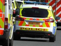 Police hunt man who fled Telford roundabout crashes