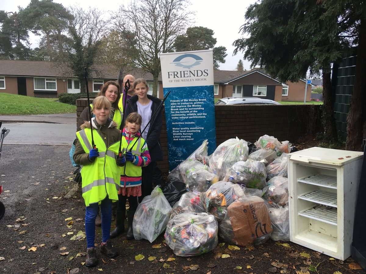 Shifnal Flood Group took to the streets for its second litter pick