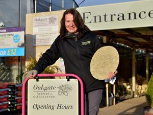 Staff member Lucy Minta of Oakgate Nursery & Garden Centre
