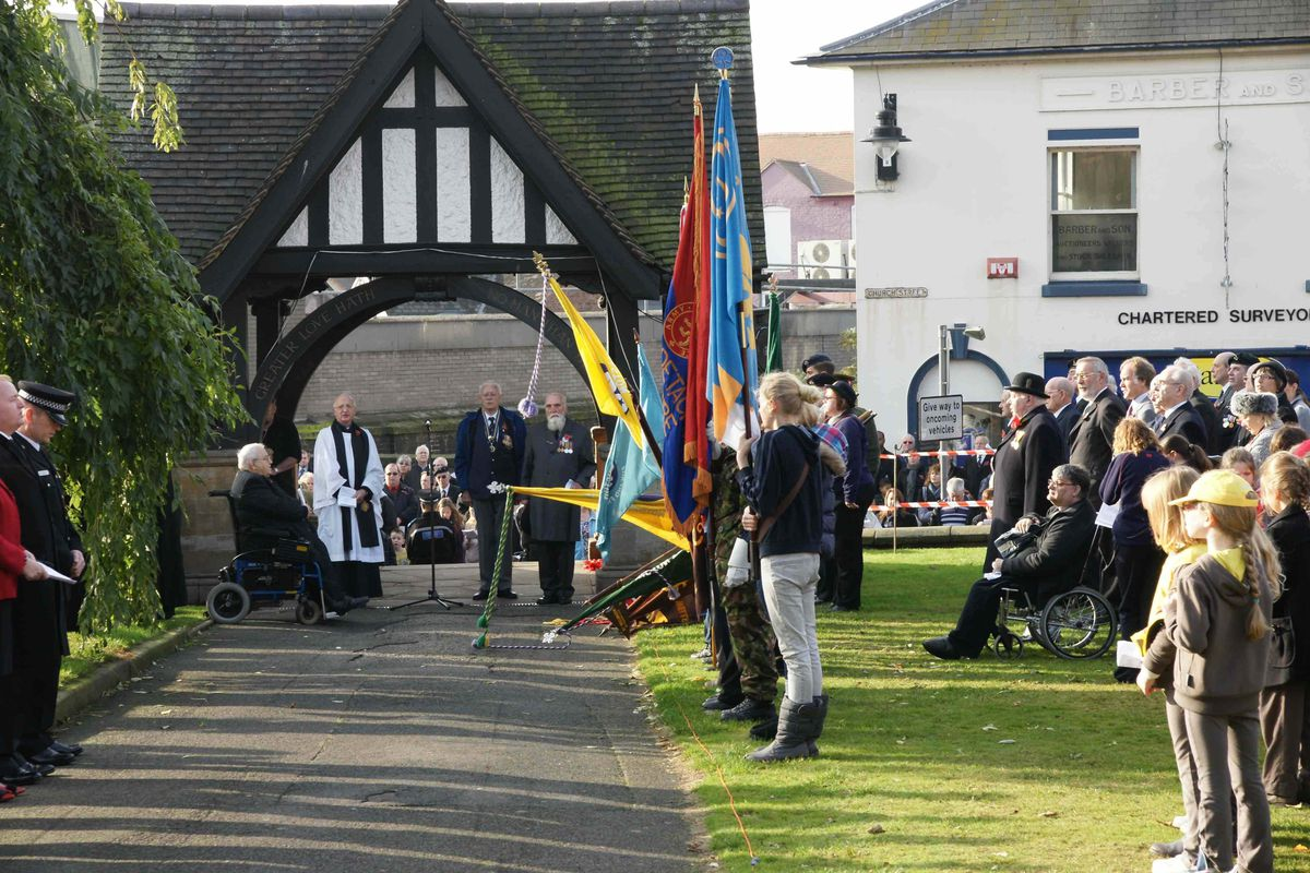 The Lych Gate in Wellington is the focus of the town's remembrance ceremonies