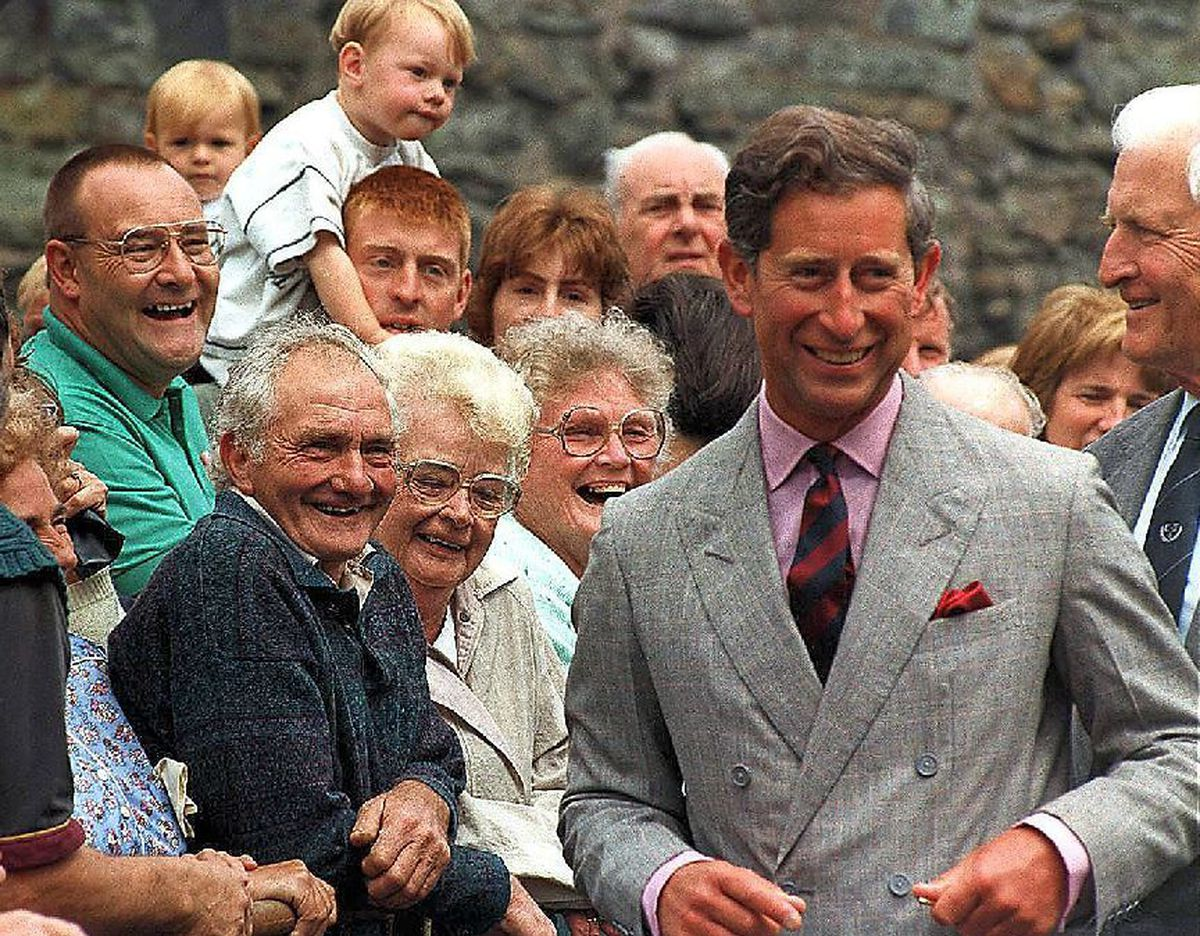 Chatting to the crowds in Welshpool in 1995