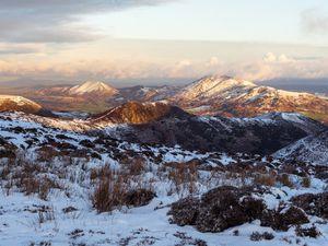 Snow on the Long Mynd this week. Photo: Andrew Farrow @fffarrow