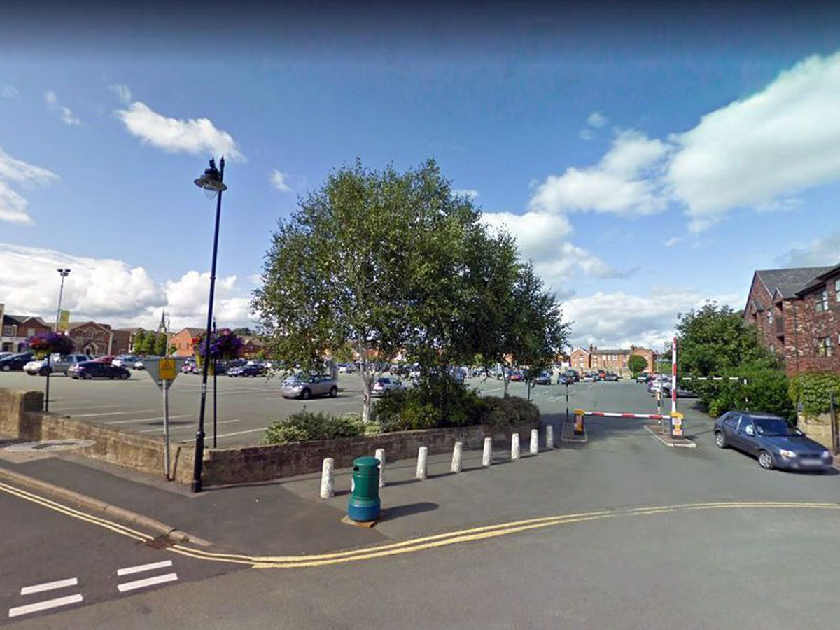 Oswestry's Central car park. Pic: Google