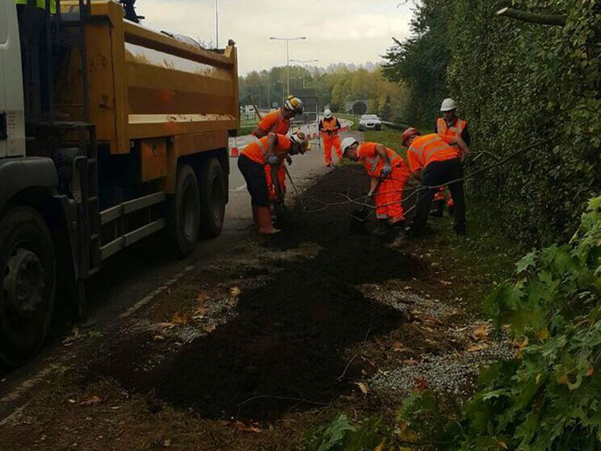 The hole is filled in. Photo: Severn Trent.