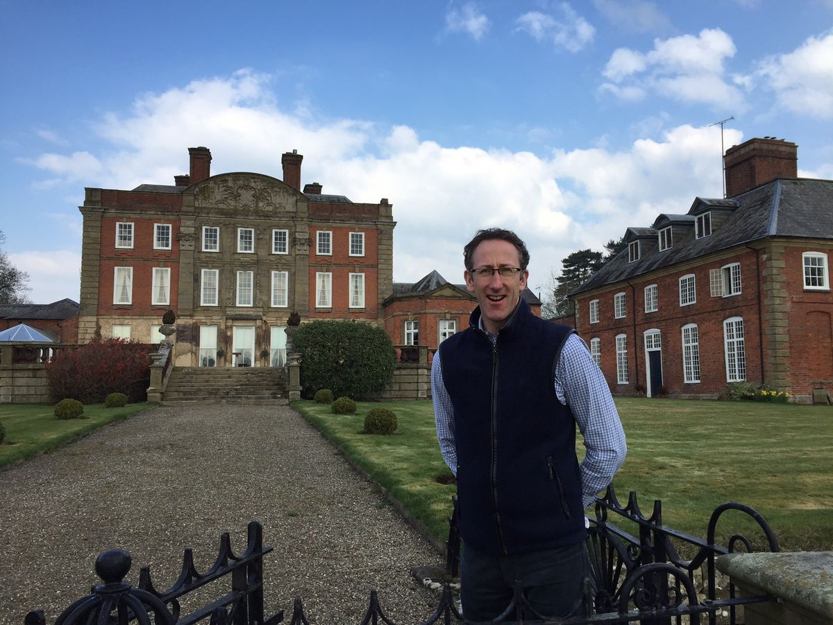 Neil Mainwaring, whose family have lived at Hardwick Hall, near Ellesmere, for almost 300 years