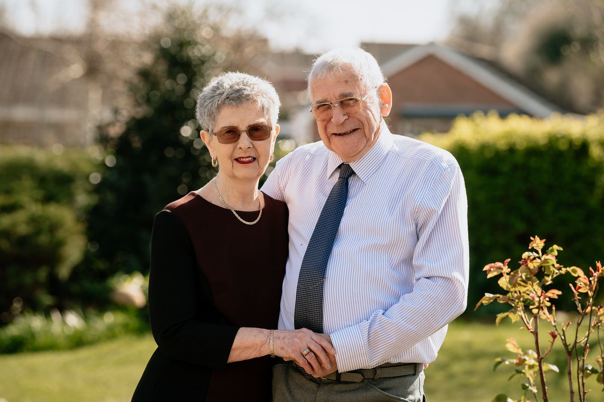 Daisy Perks and Kenneth Perks from Shrewsbury celebrating their 60th diamond wedding anniversary