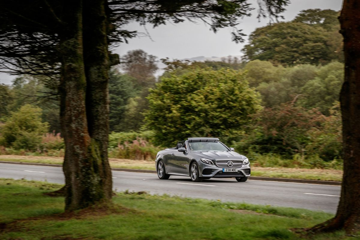 The E-Class cabriolet provides wind in the hair motoring with a plenty of comfort