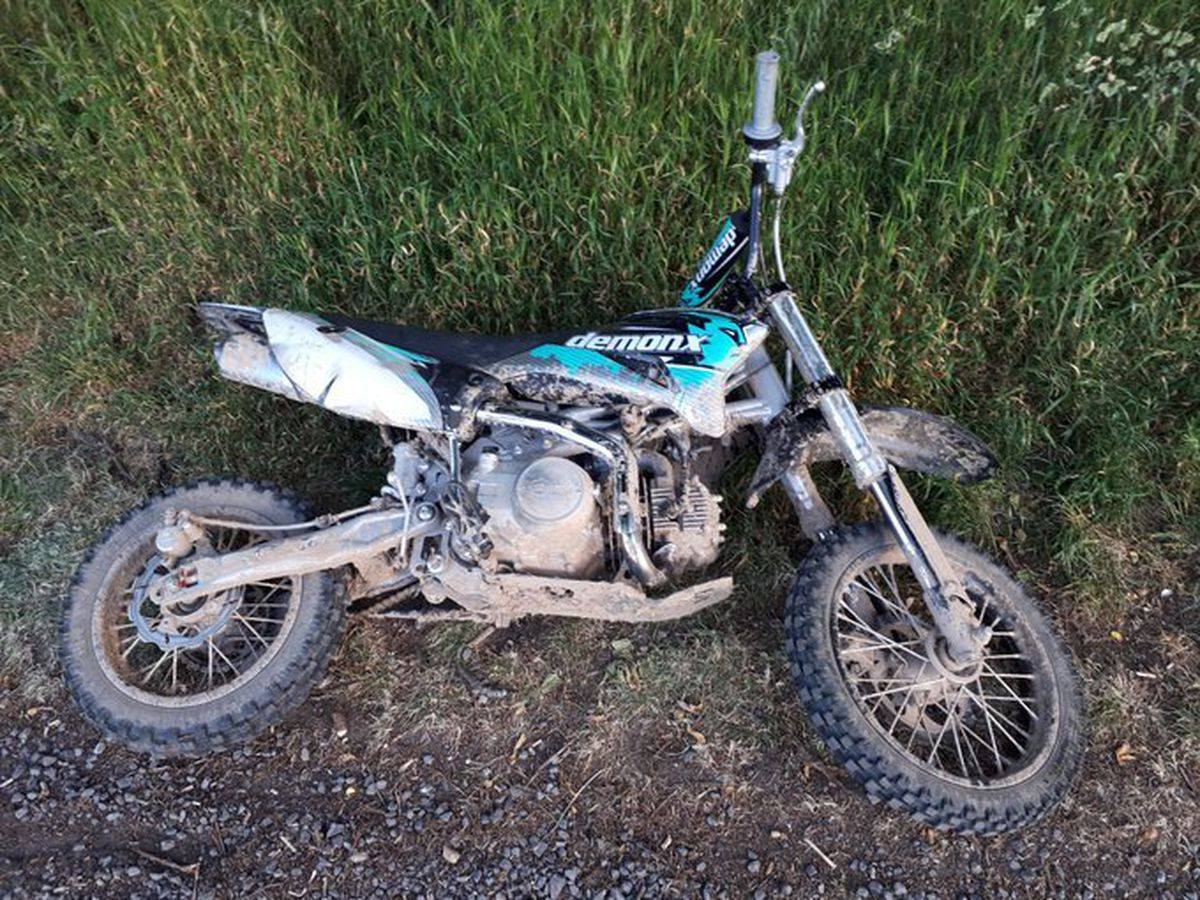 Police confiscated a dirt bike from a youth at Greenfields playing fields. Picture: Shrewsbury Cops
