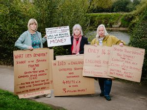 Claire Kirby, Barbara Costello and Jane Asterley Berry are three of the residents unhappy at the current situation