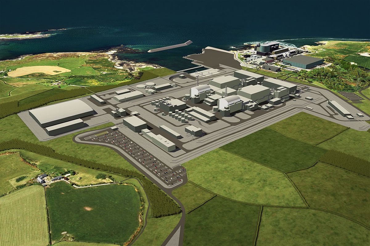 Work on the new nuclear power plant at Wylfa, Anglesey, has been suspended