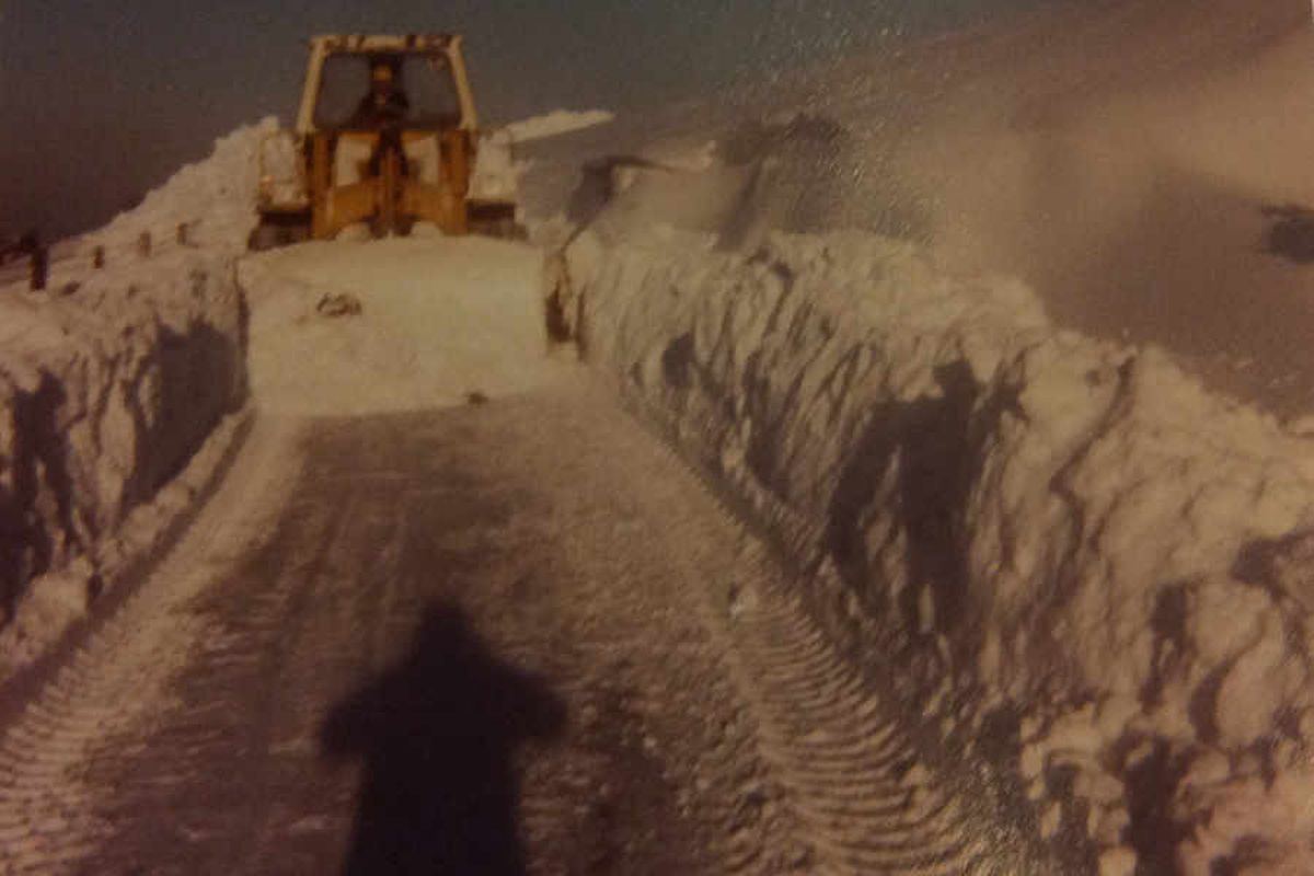 Terry Jones, from Longden Common, says: 'These photos are taken by me at Cothercott Hill, Pulverbatch. At the time I was working for Shropshire County Council at Callow Quarry and I was sent to clear the snow with the loading shovel from the quarry.'