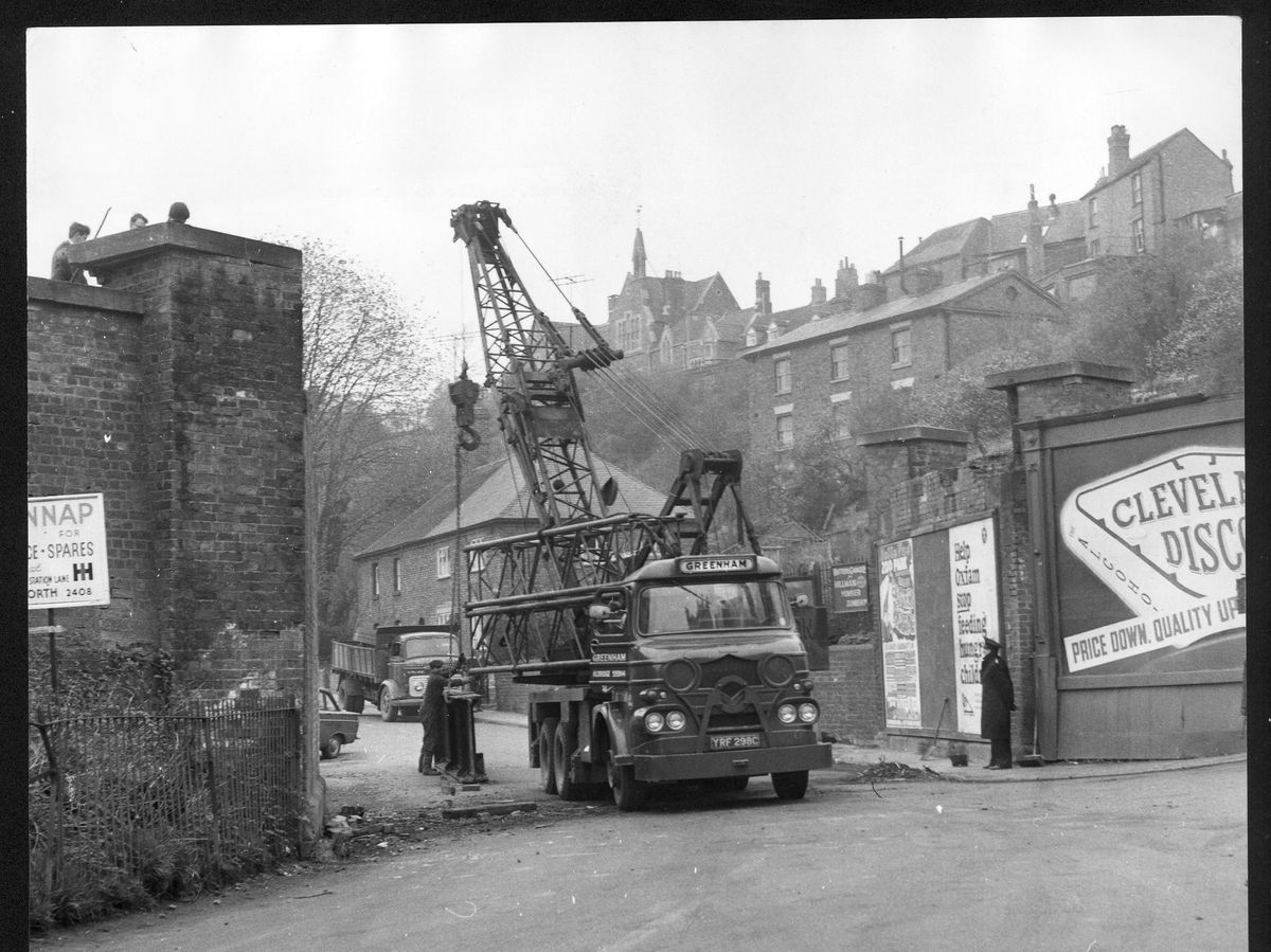 Bridgnorth's railway bridge – seen here during its 1967 demolition – would have had to be rebuilt under 1970s moves to reinstate the line northwards.