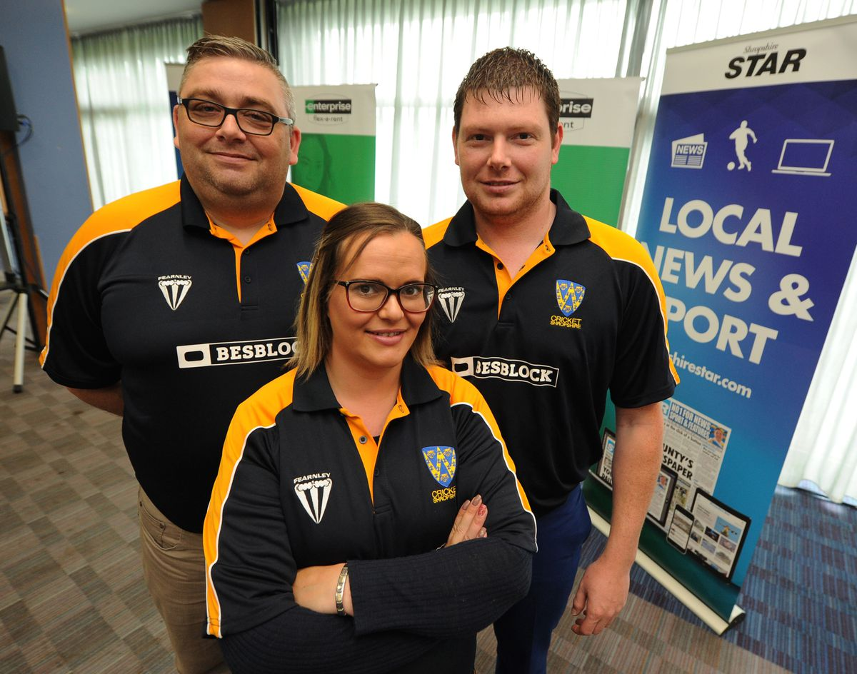 Sean Greening, Lauren Rigby and Shaun Rigby from Shropshire Disability Cricket