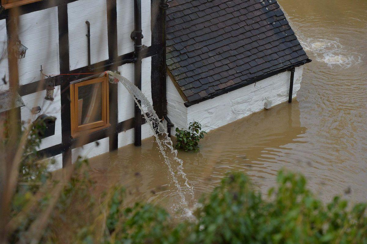 River Severn flooding in Ironbridge this week