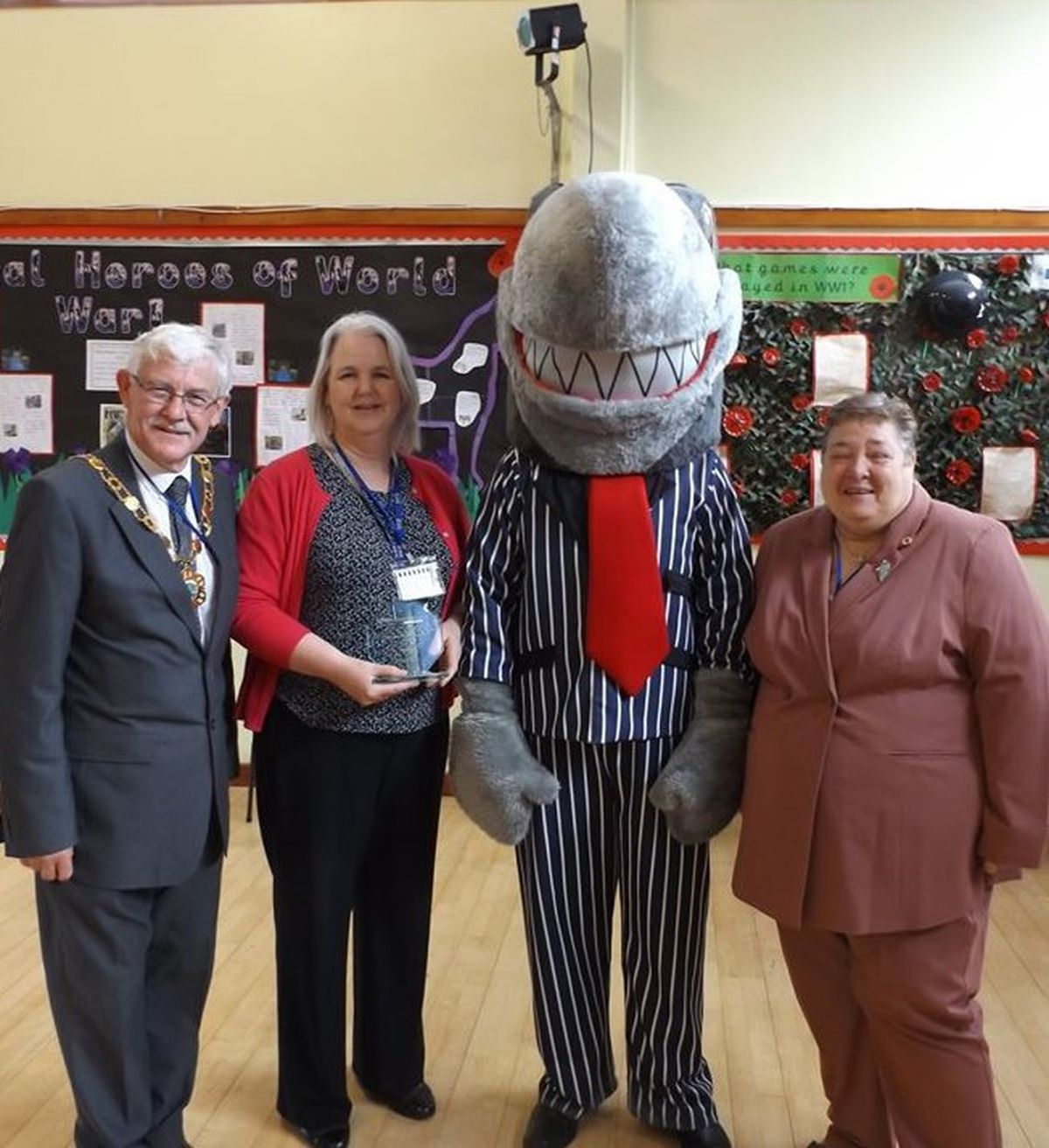 Telford & Wrekin Mayor Councillor Stephen Reynolds with Karen Farrow, Just Credit Union chief officer, and Councillor Jackie Loveridge