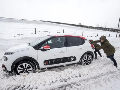 Wintry weather brings disruption as 'mini beast from the east' grips UK