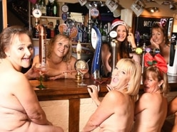 Village pub ladies bare all in daring charity calendar